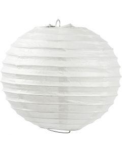 Papirlampe, Rund, dia. 35 cm, hvit, 1 stk.
