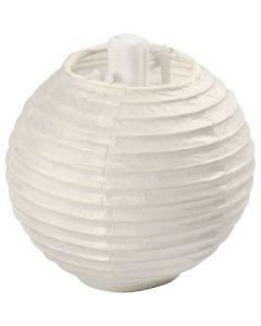 Papirlampe, dia. 7,5 cm, hvit, 10 stk./ 1 pk.