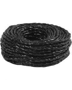Snor, tykkelse 3,5-4 mm, svart, 25 m/ 1 rl.