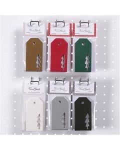 Manillamerker, juletre, str. 5x10 cm, 300 g, 6x10 pk./ 1 kasse