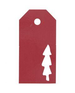 Manillamerker, Juletre, str. 5x10 cm, 300 g, rød, 15 stk./ 1 pk.