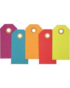 Manillamerker, str. 4x8 cm, 250 g, ass. farger, 20 stk./ 1 pk.