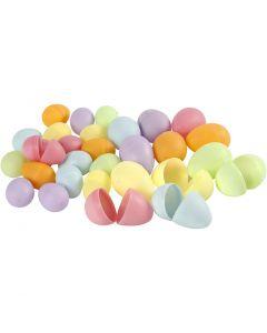 Egg, H: 4,5+6 cm, dia. 3+4  cm, pastellfarger, 720 stk./ 1 pk.