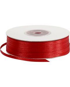 Satengbånd, B: 3 mm, rød, 100 m/ 1 rl.