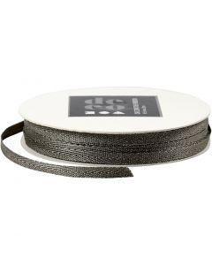 Dekorasjonsbånd, B: 5 mm, sølv, 20 m/ 1 rl.