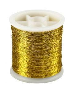 Sytråd, tykkelse 0,15 mm, gull, 100 m/ 1 rl.