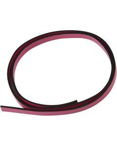 Imitert lærbånd, B: 10 mm, tykkelse 3 mm, pink, 1 m/ 1 pk.