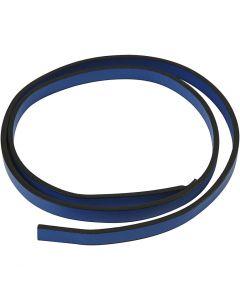 Imitert lærbånd, B: 10 mm, tykkelse 3 mm, blå, 1 m/ 1 pk.