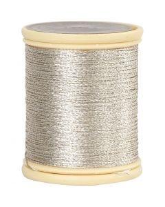 DMC tråd, tykkelse 0,36 mm, sølv, 40 m/ 1 rl.