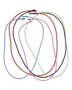 Snapp halskjede, L: 46 cm, tykkelse 1,65 mm, ass. farger, 5 ass./ 1 pk.