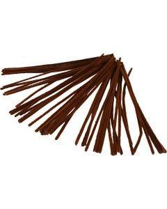 Piperensere, L: 30 cm, tykkelse 6 mm, brun, 50 stk./ 1 pk.
