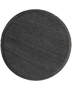 Magnet, dia. 20 mm, tykkelse 3 mm, 50 stk./ 1 pk.