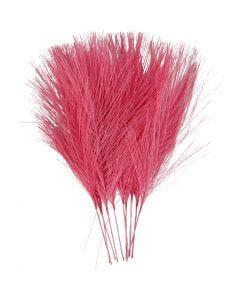 Kunstige fjær, L: 15 cm, B: 8 cm, pink, 10 stk./ 1 pk.