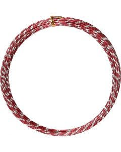 Bonzaitråd, diamond-cut, tykkelse 2 mm, rød, 7 m/ 1 rl.