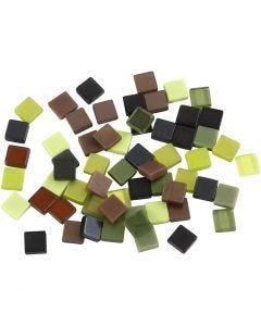 Minimosaikk, str. 5x5 mm, grønn glitter, 25 g/ 1 pk.