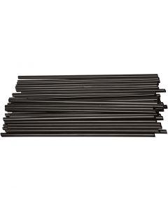 Konstruksjonsrør, L: 12,5 cm, dia. 3 mm, svart, 800 stk./ 1 pk.