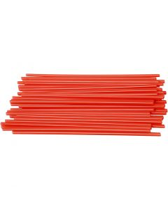 Konstruksjonsrør, L: 12,5 cm, dia. 3 mm, rød, 800 stk./ 1 pk.