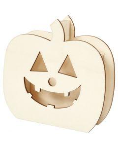 Halloweenfigur Hodeskalle, Gresskarhode, H: 13 cm, dybde 3 cm, B: 13,5 cm, 1 stk.