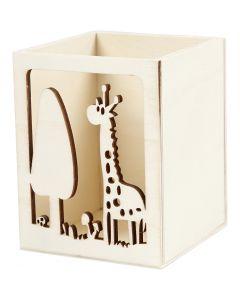 Blyantholder, giraff, H: 10 cm, L: 8 cm, 1 stk.