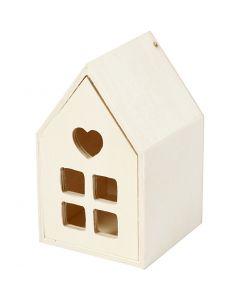 Hus med skuff, H: 10,8 cm, B: 6,8 cm, 1 stk.