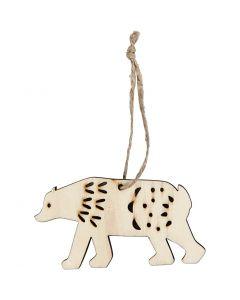 Oppheng, isbjørn, H: 4,5 cm, B: 7,5 cm, 4 stk./ 1 pk.