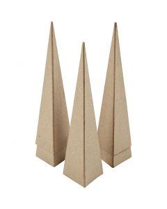 Kjegler, H: 20 cm, str. 6x6x6 cm, 5 stk./ 1 pk.