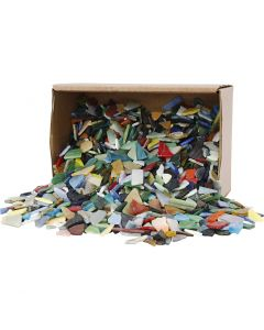Mosaikk, str. 8-20 mm, ass. farger, 2 kg/ 1 pk.