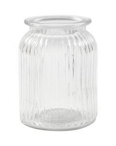 Glasskrukke, H: 14,5 cm, dia. 11 cm, hullstr. 7 cm, 6 stk./ 1 kasse