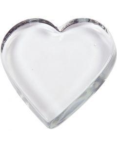 Hjerte, str. 9x9 cm, tykkelse 15 mm, 1 stk.