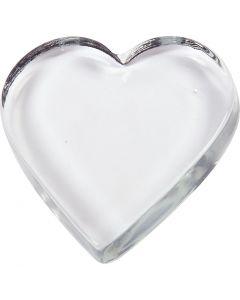 Hjerte, str. 9x9 cm, tykkelse 15 mm, 10 stk./ 1 kasse
