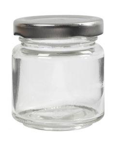 Sylteglass, H: 6,5 cm, dia. 5,7 cm, 100 ml, transparent, 12 stk./ 1 kasse