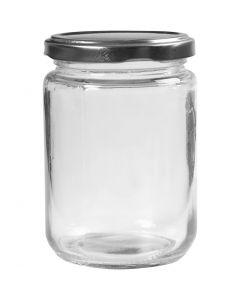 Sylteglass, H: 11 cm, dia. 7,5 cm, 370 ml, transparent, 6 stk./ 1 kasse