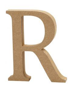 Bokstav, R, H: 8 cm, tykkelse 1,5 cm, 1 stk.