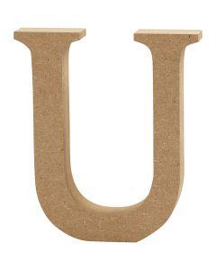 Bokstav, U, H: 8 cm, tykkelse 1,5 cm, 1 stk.