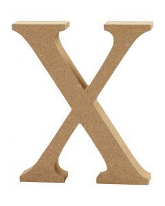Bokstav, X, H: 8 cm, tykkelse 1,5 cm, 1 stk.