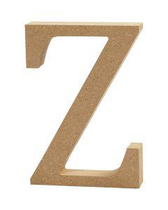 Bokstav, Z, H: 8 cm, tykkelse 1,5 cm, 1 stk.