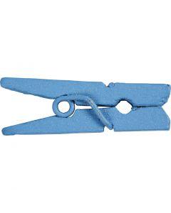 Mini klesklype, L: 25 mm, B: 3 mm, blå, 36 stk./ 1 pk.