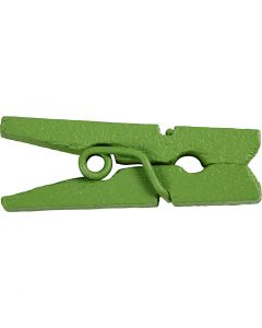 Mini klesklype, L: 25 mm, B: 3 mm, grønn, 36 stk./ 1 pk.