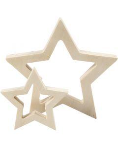 Stjerner, dia. 9+16 cm, tykkelse 20 mm, 2 stk./ 1 pk.