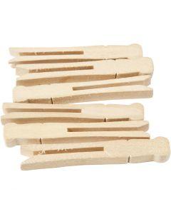Klesklyper, L: 9,5 cm, B: 1,4 cm, 100 stk./ 1 pk.