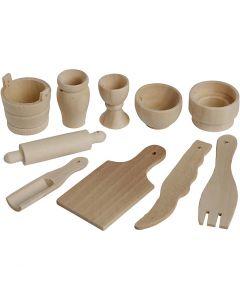 Kjøkkenredskaper, L: 40-60 mm, 50 stk./ 1 pk.