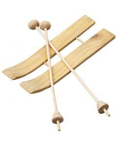 Ski med staver, str. 11x3,8 cm, 3 par/ 1 pk.