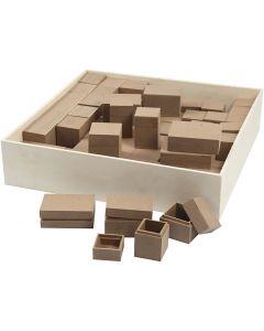 Miniesker, H: 2,5-5 cm, 4x15 stk./ 1 pk.