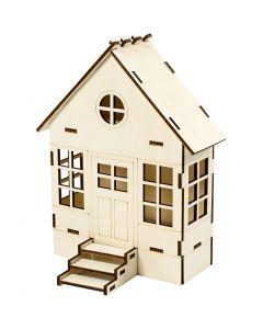Sett sammen selv hus, H: 24 cm, B: 19 cm, 1 stk.
