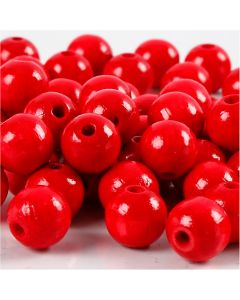 Treperler, dia. 10 mm, hullstr. 3 mm, rød, 20 g/ 1 pk., 70 stk.