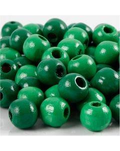 Treperler, dia. 10 mm, hullstr. 3 mm, grønn, 20 g/ 1 pk., 70 stk.