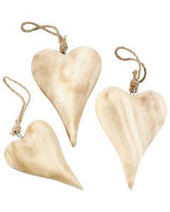 Hjerte , H: 9,5+15 cm, Innhold kan variere , 6 stk./ 1 pk.