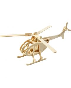 3D Pusslespill, helikopter, str. 26,5x14x26 cm, 1 stk.