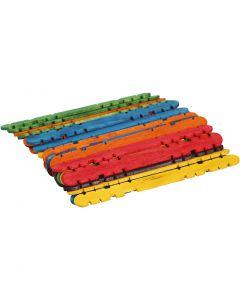 L: 11,4 cm, B: 10 mm, ass. farger, 30 stk./ 1 pk.