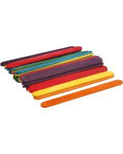 Trepinne, L: 11,4 cm, B: 10 mm, ass. farger, 30 stk./ 1 pk.